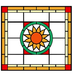 Stained glass vector image