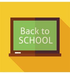Flat Back to School Chalkboard with long Shadow vector image