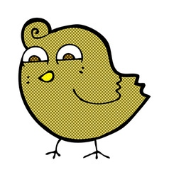 Comic cartoon funny bird vector