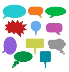 Blank empty speech bubbles icons vector