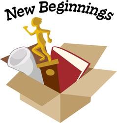 New beginnings vector