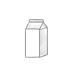 Packaged dairy product sketch icon vector