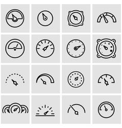 Line meter icon set vector