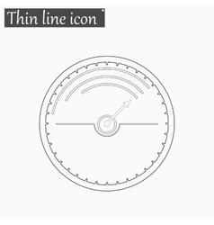 Speedometer icon style thin line vector