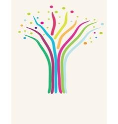 Abstract tree Retro card vector image vector image