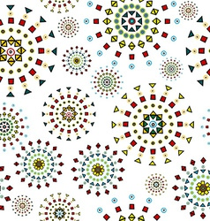 Abstract white background with stylized flowers vector image