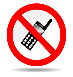 Ban telephone vector image