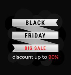 black friday big sale banner design template vector image vector image