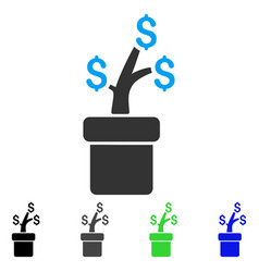 Business project plant flat icon vector