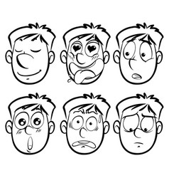 different facial expressions on man vector image vector image
