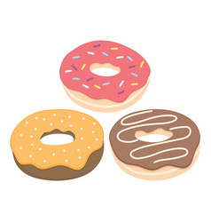 donut set isolated on a light background vector image vector image