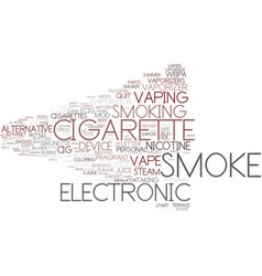 E-smoke word cloud concept vector