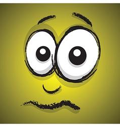 Emotions yellow upset vector