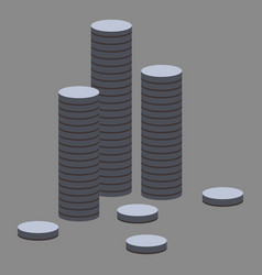 flat icon on theme arabic business stacks of coins vector image vector image