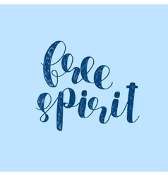 Free spirit brush lettering vector