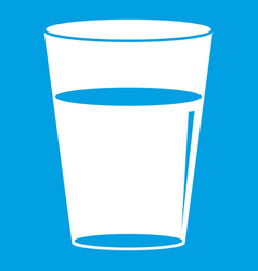 glass water icon white vector image vector image