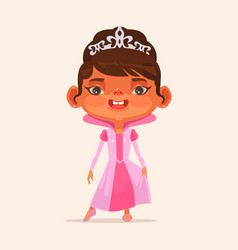 little girl child character in princess suit vector image vector image