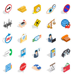 Look after icons set isometric style vector