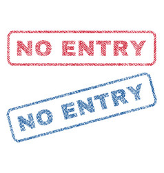 No entry textile stamps vector