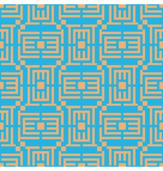 or puzzle Geometric seamless pattern Simple vector image vector image