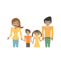 Parents and children family vector