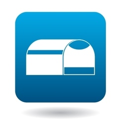Pet travel portable cage icon simple style vector image