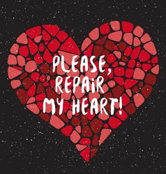 Repair my heart vector image vector image
