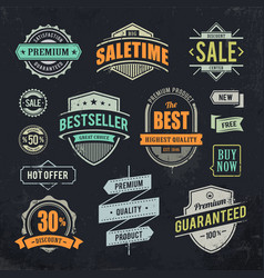 Sale Retro Labels vector image vector image