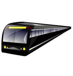subway train vector image vector image
