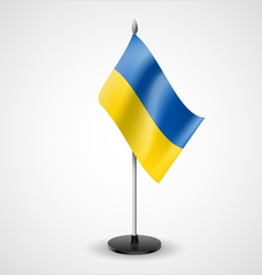 Table flag of ukraine vector