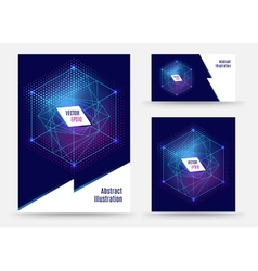 Template brochure design geometric spapes vector
