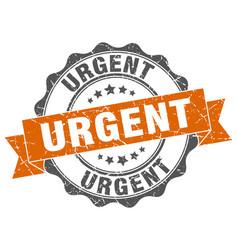 Urgent stamp sign seal vector