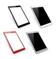 Varicoloured tablet mockups vector image vector image