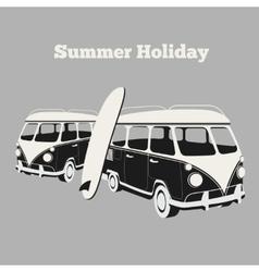 Vintage surf poster vector image