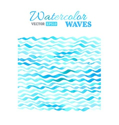 watercolor waves background vector image