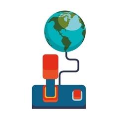 World joystick game concept online vector