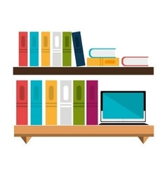 Office bookcase isolated icon design vector