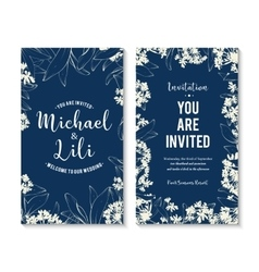 Floral background for invitation card banners set vector