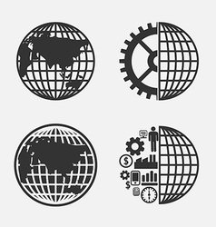 Icon creative Globe earth vector image