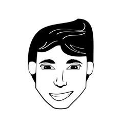 head man avatar comic vector image