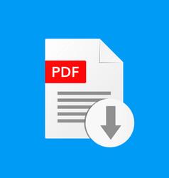 pdf document download pdf file format vector image