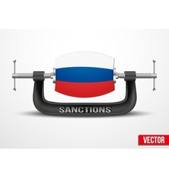 Sanctions against russia over the crimea vector