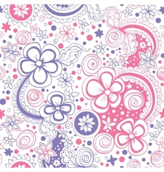 Seamless color floral pattern vector