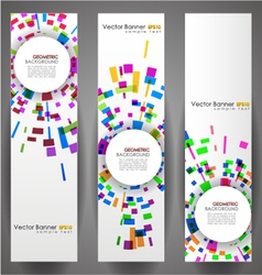 geometric circles banner set vector image