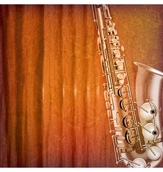 Abstract grunge music background with saxophone vector