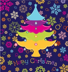 merry christmas vector image