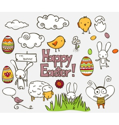 Easter doodle vector