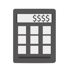 Calculator with dollar sign vector