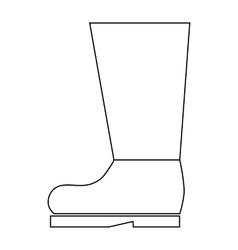 High boot icon in outline style vector