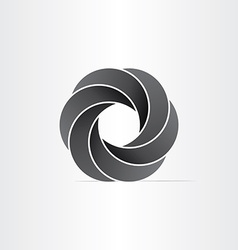 abstract black impossible symbol vector image vector image